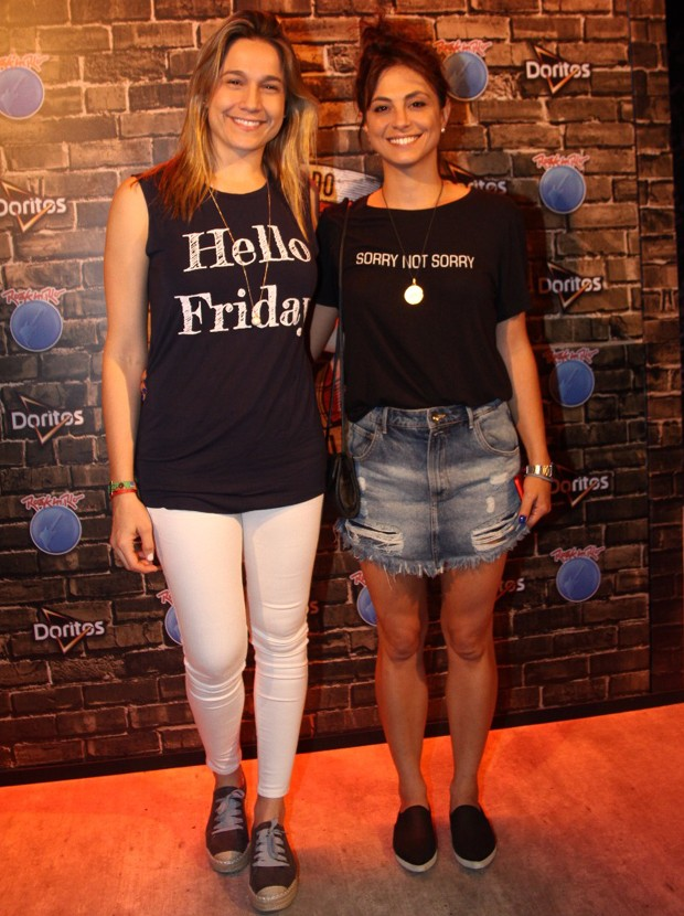 Fernanda Gentil e a namorada, Priscila (Foto: Roberto Valverde/Editora Globo)