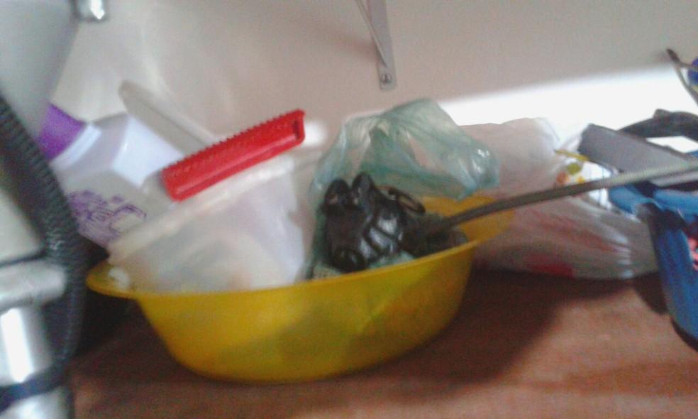 Polícia encontrou armas, drogas e até granada em chácara usada por suspeito de crimes em Bofete (Foto: Divulgação)