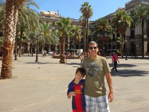Alessandro com o filho Rodrigo (Foto: Arquivo pessoal/Alessandro Aires)