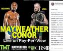Sem mencionar data, Mayweather divulga foto de luta com McGregor
