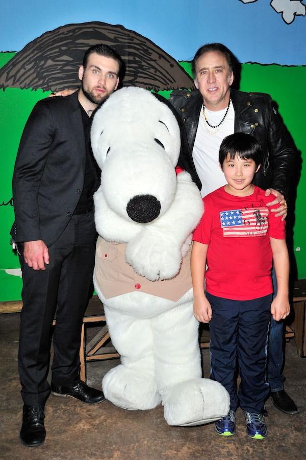 Nicolas Cage com os filhos, Weston Cage e Kal-El (Foto: Getty Images)