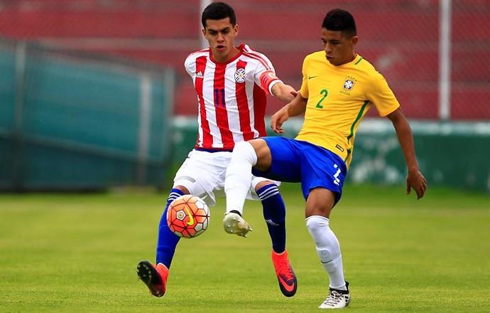 Seleção Sub-20 Dodô e Jesús Medina Brasil x Paraguai (Foto  EFE) de9828528fce4