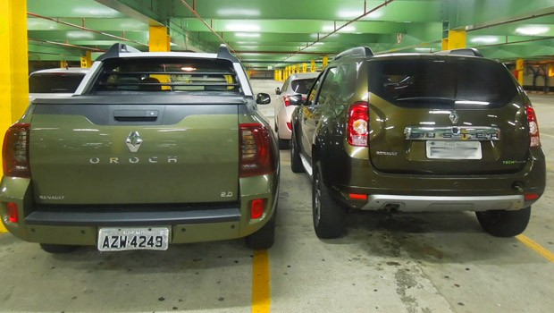 Renault Duster Oroch e o SUV Duster (Foto: Luciana de Oliveira/G1)