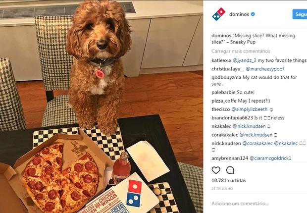 Post Instagram Domino's Pizza (Foto: Reprodução/Instagram)