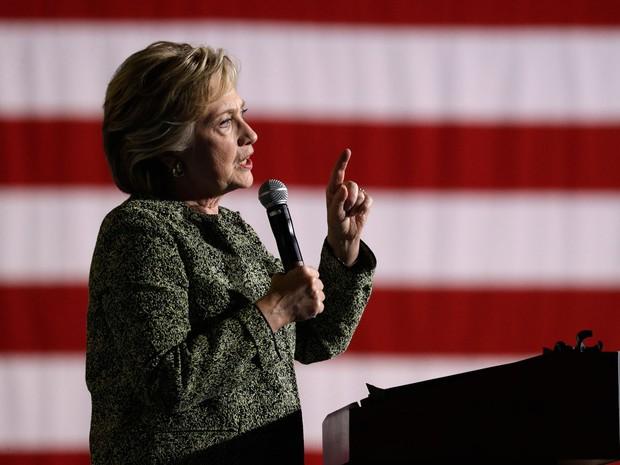 A campanha de Hillary em Las Vegas; em palestra a banqueiros, candidata disse que 'política é como fazer salsicha' (Foto: Reuters/Lucy Nicholson)