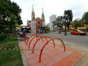 Paraciclos (Foto: Divulgação/Prefeitura de Curitiba)