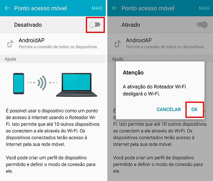 Ative o roteador Wi-Fi (Foto: Reprodução/Paulo Alves)