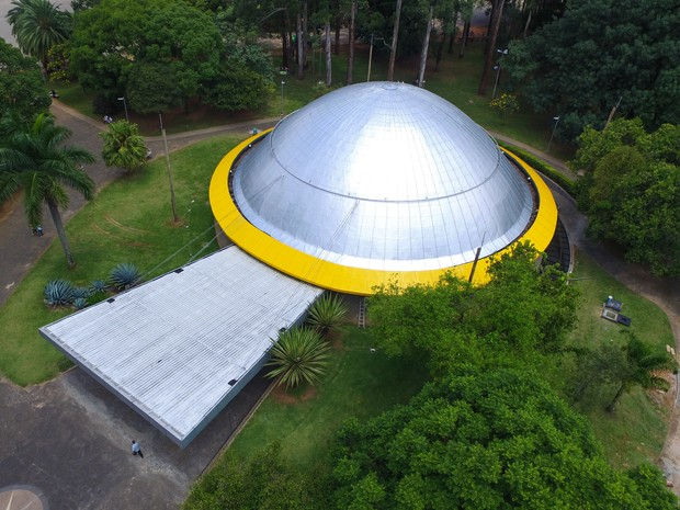 A Prefeitura de São Paulo reabriu o Planetário Orsini Aristoteles Orsini, conhecido como Planetário do Ibirapuera; Serão oferecidas quatro sessões diárias (Foto: Marcelo D. Sants/Framephoto/Estadão Conteúdo)