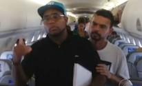 Banda deixa voo após 'confusão por calor' (Reprodução/TV Bahia)