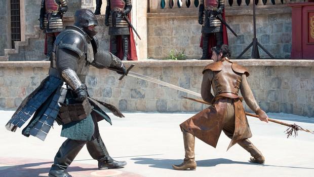 Oberyn Martell e Gregor Clegane, o Montanha (Foto: Divulgação/HBO)