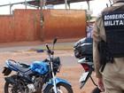 Motociclista fica ferido ao ser atingido por caminhão em Campo Grande