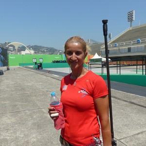 Khatuna Lorig no evento-teste do Rio (Foto: Amanda Kestelman)