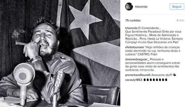 Thiago Lacerda sobre morte de Fidel Castro (Foto: Instagram / Reprodução)
