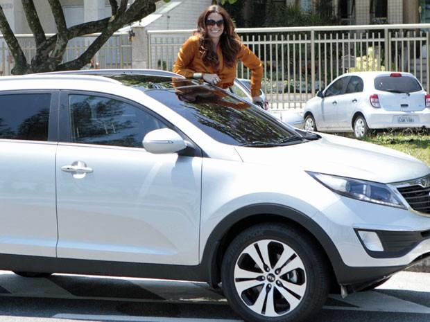 Giovanna Antonelli posa para foto no intervalo das gravações (Foto: Salve Jorge / TV Globo)