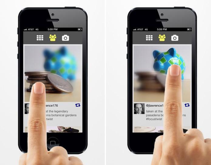 Com o aplicativo FocusTwist é possível focar determinados objetos após fotografar (Foto: Divulgação/iTunes Store) (Foto: Com o aplicativo FocusTwist é possível focar determinados objetos após fotografar (Foto: Divulgação/iTunes Store))