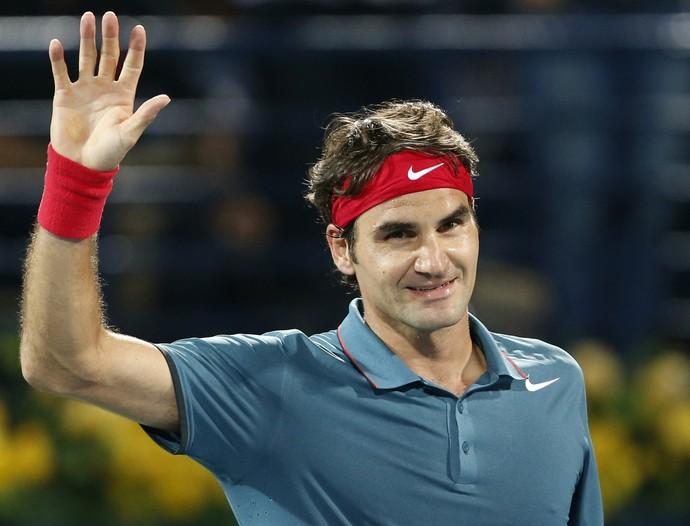 tênis novak djokovic roger federer dubai (Foto: Reuters)