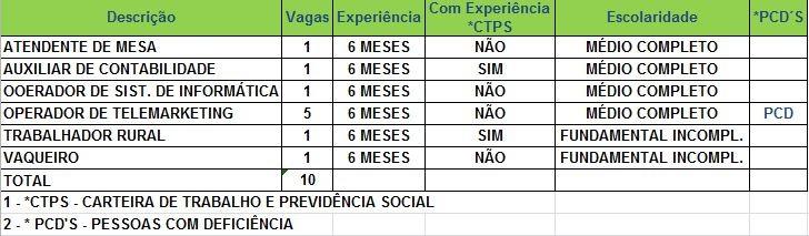 Sine oferece 10 vagas de emprego nesta sexta-feira (14) (Foto: Divulgação/Sine)
