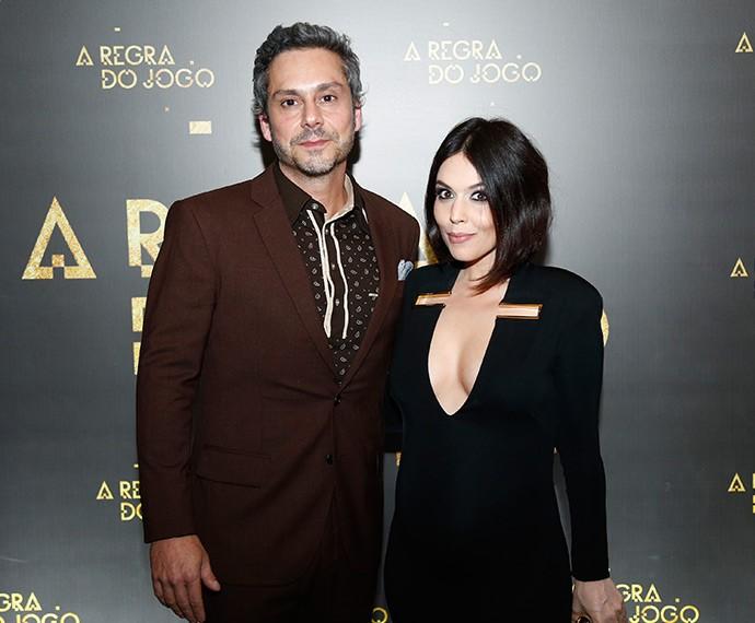 Alexandre Nero e a esposa, Karen Brusttolin (Foto: Raphael Dias/TV Globo)