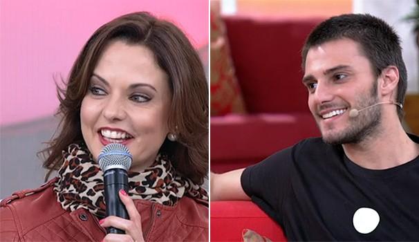Lígia Guerra e Hugo Bonemer Encontro (Foto: Reprodução/ TV Globo / Encontro com Fátima Bernardes)