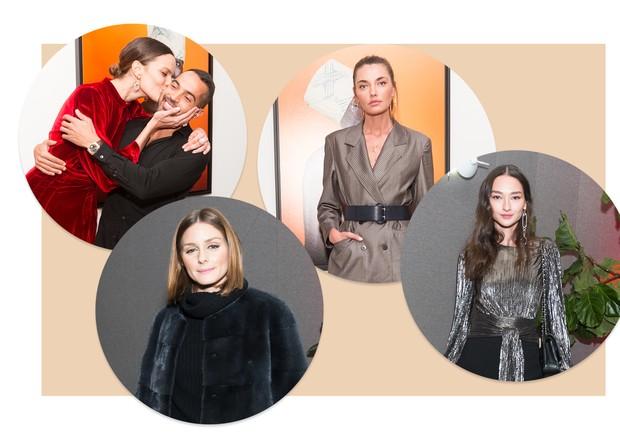 Da esquerda para a direita: Bárbara e Daniel Urzedo, Olivia Palermo, Alina Baikova e Bruna Tenório (Foto: Divulgação)
