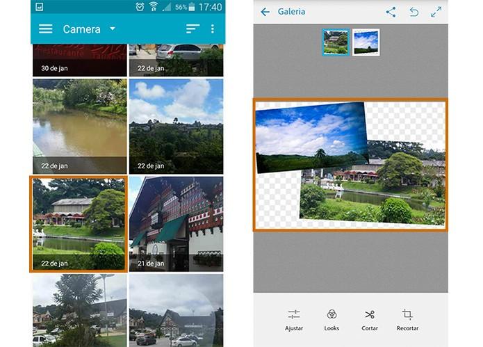 Ajuste o tamanho de cada imagem com toque na tela (Foto: Reprodução/Barbara Mannara)