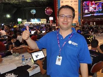 Mario Teza, diretor geral no Brasil da Futura Network, empresa espanhola realizadora da Campus Party (Foto: Luna Markman/G1)