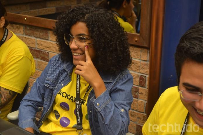 Gabriella Mattos conversa com equipe do TechTudo sobre mulheres na computação (Foto: Caio Bersot / TechTudo)