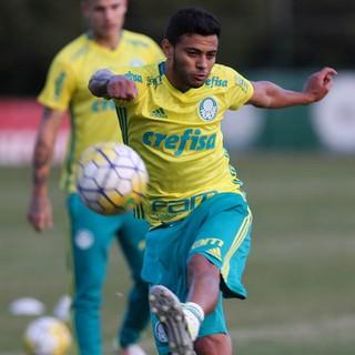 Cleiton Xavier treino Palmeiras (Foto: Cesar Greco/Ag Palmeiras/Divulgação)