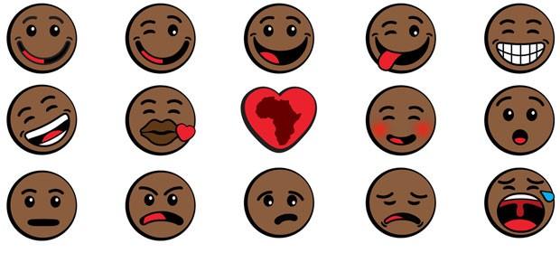 Oju Africa lança pacote de 'emoticons'; negros para smartphones e tablets que rodam Android. (Foto: Reprodução/OjuAfrica) (Foto: Reprodução/OjuAfrica)