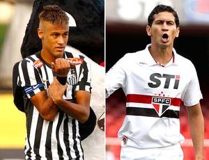montagem Neymar e Ganso jogo Santos x São Paulo (Foto  Editoria de Arte   9d5240e9de788