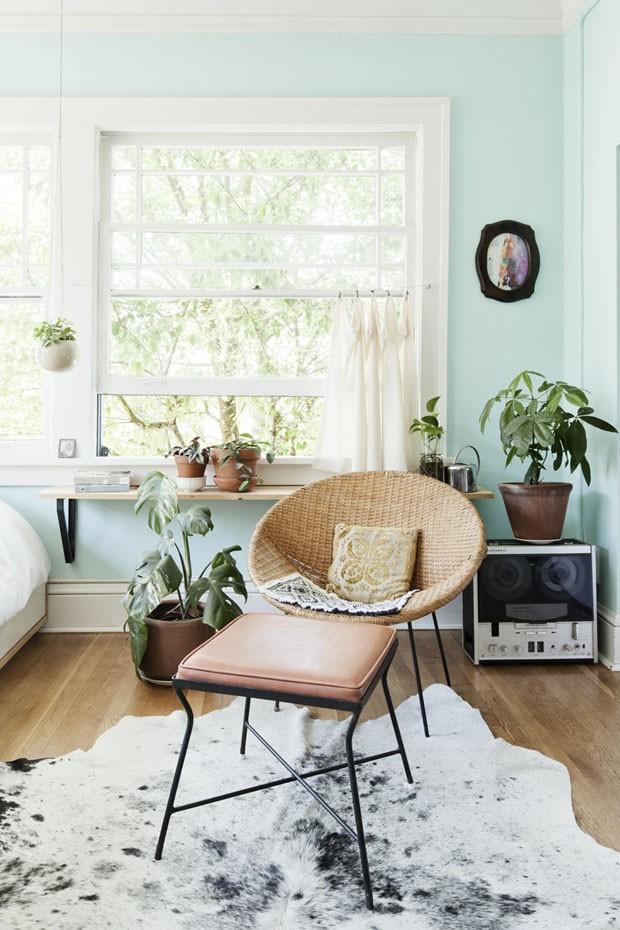 Verde menta injeta frescor em apartamento antigo (Foto: Jaclyn Campanaro/Divulgação)