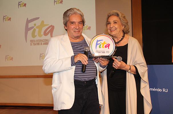Domingos Oliveira e Eva Wilma foram homenageados este ano (Foto: Divulgação)