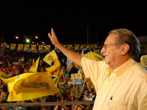 Almir Gabriel durante campanha em 2006. (Foto: Antonio Silva/ O Liberal)