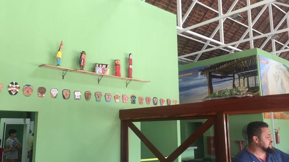 Decoração do aeroporto de Jericoacoara (Foto: Governo do Estado/ Divulgação)