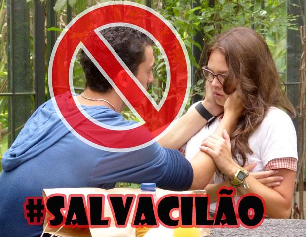 Qualé, Sal? Essa carra passou dos limites! (Foto: Malhação / TV Globo)