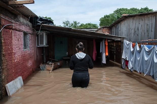 chuva, rs, Eldorado do Sul (Foto: Tamar Aguiar/ Agência Free Lancer/Estadão Conteúdo)
