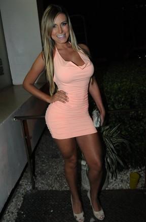 Andressa Urach em festa em São Paulo (Foto: Francisco Cepeda/ Ag. News)
