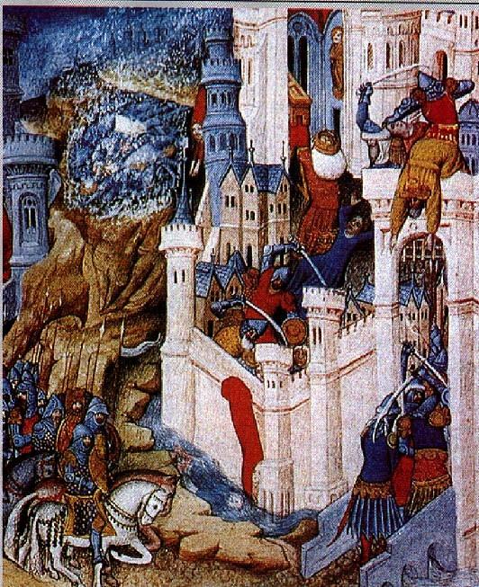 Miniatura do século 15 relata a história do saque de 410 (Foto: Wikimedia)