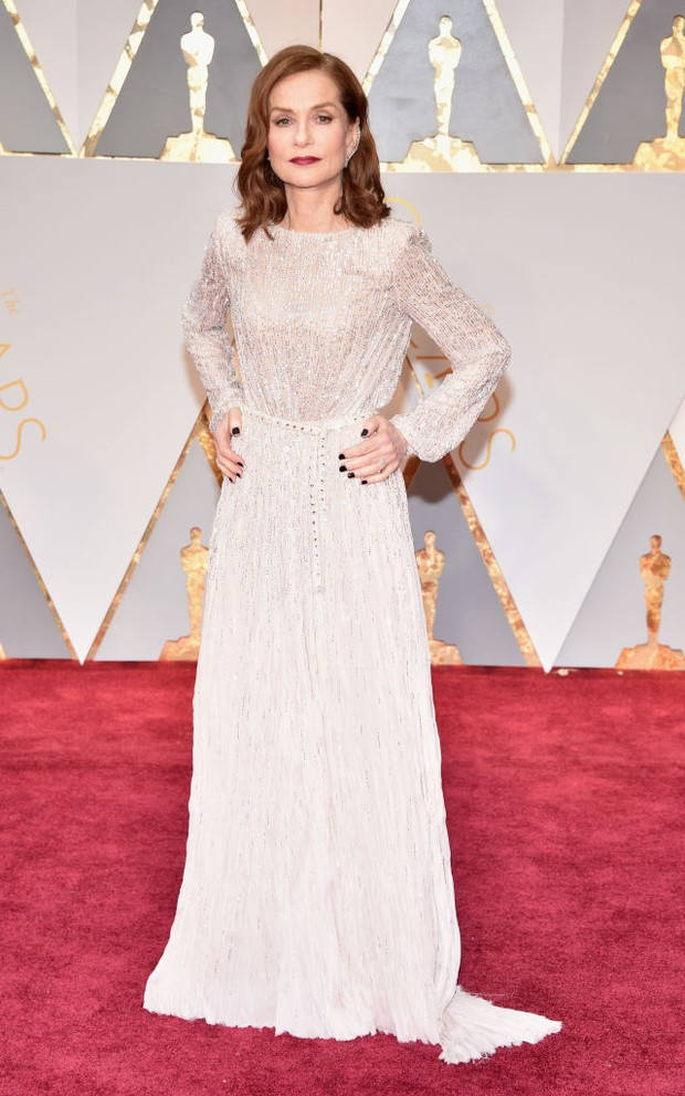 Isabelle Huppert no Oscar 2017 (Foto: Getty Images)