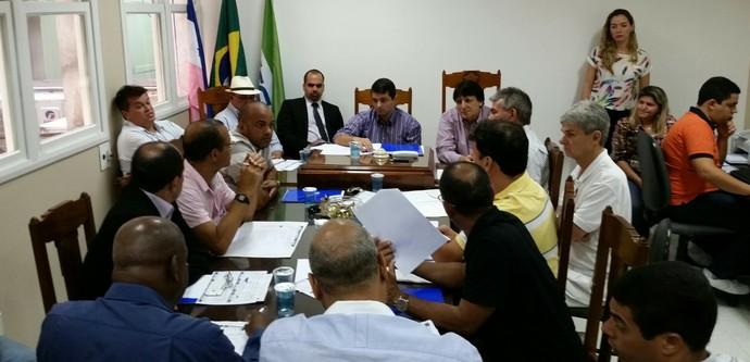 Arbitral do Campeonato Capixaba 2015 (Foto: Sidney Magno Novo/GloboEsporte.com)