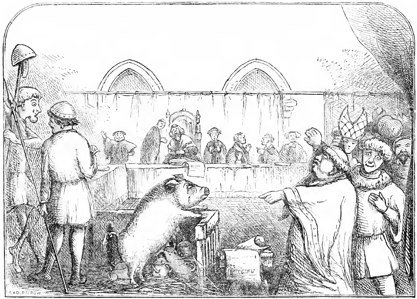 Testículos de porco eram usados para 'curar' infertilidade na Idade Média (Foto: Wikimedia Commons/ The book of days: a miscellany of popular antiquities)