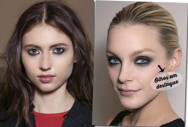 Olhos pretos, lábios brilhantes... Saiba as principais tendências de maquiagem para a estação