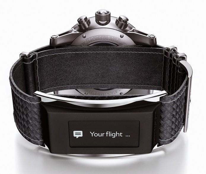 Relógio com e-Strap, da coleção Montblanc (Foto: Divulgação)