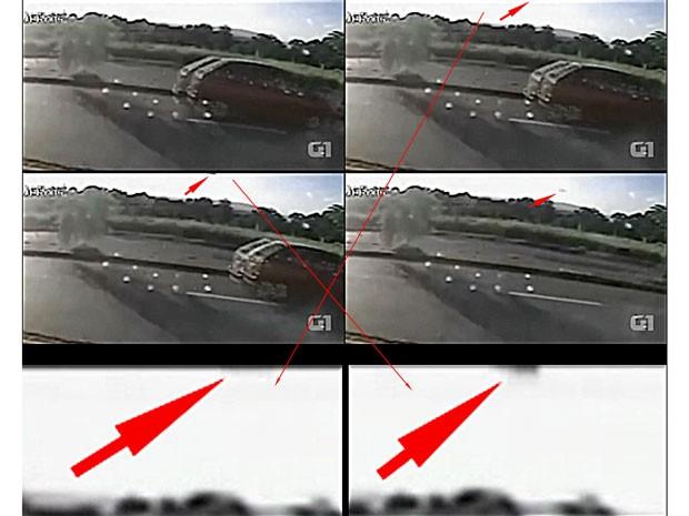 Perito Ricardo Molina analisou gravação quadro a quadro para concluir que uma peça se soltou do helicóptero antes da queda (Foto: Reprodução/ Arquivo pessoal)