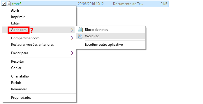 Descubra como devolver a opção Abrir com ao menu de contexto do Windows 10 (Foto: Reprodução/Edivaldo Brito)