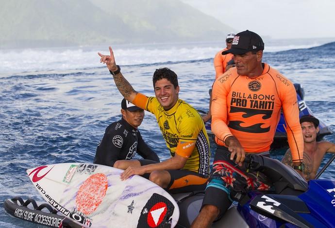 Surfe Gabriel Medina teahupoo (Foto: ASP / Kristin)