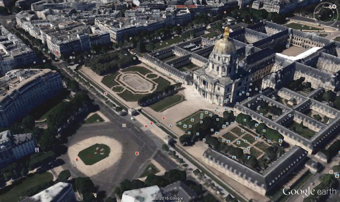 Cidades turísticas como capitais possuem várias fotos em locais importantes (Foto: Reprodução/Google Earth)