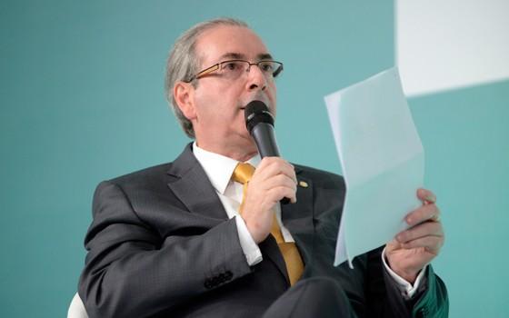 Eduardo Cunha, presidente da Câmara, na palestra Panorama da Radiodifusão na Câmara Federal, no 27º Congresso Brasileiro de Radiodifusão  (Foto: Alex Ferreira / Câmara dos Deputados)