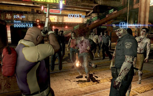 Personagem de 'Left4Dead 2' em 'Resident Evil 6' (Foto: Divulgação/Capcom)
