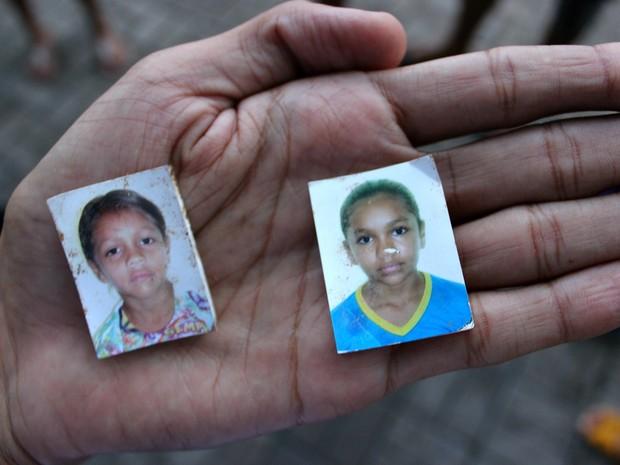 As irmãs Samiele (esquerda) e Samile (direita) morreram no desabamento de terra (Foto: Rickardo Marques/G1 AM)